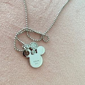 Disney Jewelry - Disney 925 Sterling Silver Mickey Mouse Necklace